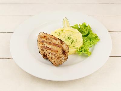 заказать: Основные блюда - Куриная грудка на лаймовом пюре