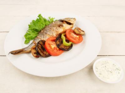 заказать: Основные блюда - Дорадо с овощами гриль