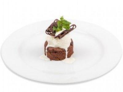 заказать: Десерты - Фондан шоколадный с мороженным