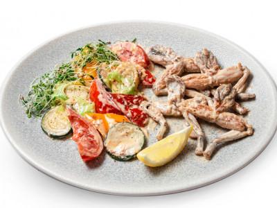 заказать: Основные блюда - Жабьи лапки с овощами