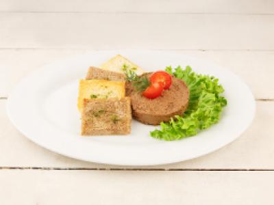 заказать: Холодные закуски - Паштет печеночный с пшеничными тостами