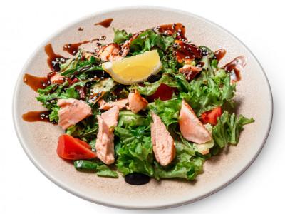 заказать: Салаты - Салат с лососем и соусом терияки