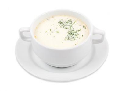 заказать: Первые блюда - Сливочный суп с лососем и овощами