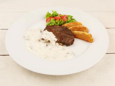 заказать: Основные блюда - Стейк Пьемонт с соусом Дор блю и грецкими орехами